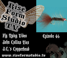 John Collins Ties JC's Copperhead/Wooly Bugger Fly Tying Video